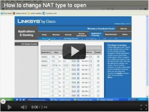 Change NAT type to open