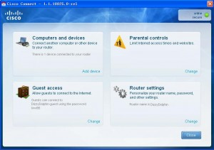 Linksys E1000 Cisco connect software
