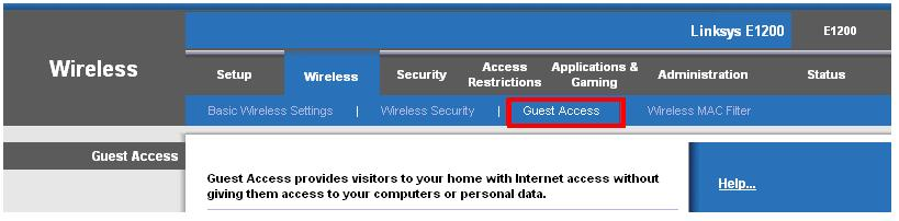 Cisco guest access using setup page