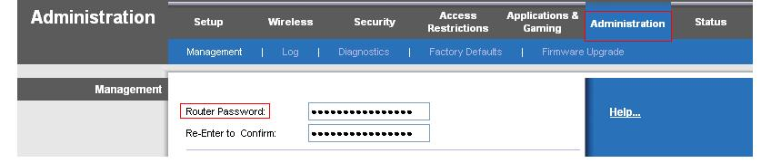 Linksys Router Password