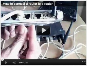 Video : How to connect router to a router
