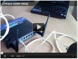 Linksys Router setup Video
